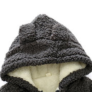 Cute Ear Pattern Warm Thick Fleece Baby Coat For 0-36M