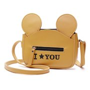 Women Cute Animal Shape Phone Purse PU Leather Crossbody Bag