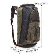 Canvas Backpack Large Capacity Outdoor Leisure Multi-functional Bucket Travel Bag For Men