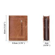 Кожаный карманный трикотажный карман на молнии с большой емкостью