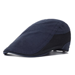 Mens Vintage Comfortable Soft Sunshade Cotton Adjustable Beret Cap Outdoor Travel Hat