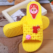 Big Size Cute Carton Sheep Flower Slip On Flat Indoor Home Slippers