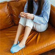 Women Mesh Breathable Sweat Dry Ankle Socks Anti-skid Invisible Boat Socks