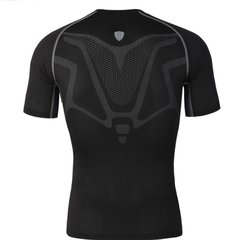 Mens Muscles Traning Elastico Quick-drying Respirabile Sports Fitness Collant T-shirt manica corta