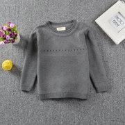 Suéteres para niñas Cute Rabbit Embroidery Kids Crew Cuello Tops para 1Y-7Y