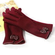 Women Touch Screen Velvet Thick Windproof Warm Full-finger Gloves Fitness Tactical Driving Gloves