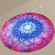 145cm Round Circle Beach Spa Bath Towel Thick Yoga Mat Mandala Bed Sheet Tapestry