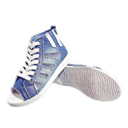 Fish Mouth Hollow Out Peep Toe Lace Up High Top scarpe casual per le donne