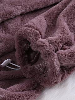 Руна с капюшоном фиолетовый с длинным рукавом осенние зимние толстовки