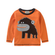 Kids Boys Long Sleeve T Shirts Cotton Teenager Boys Tops Tees For 2Y-12Y