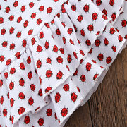 47ccd8322 ... Ladybird Print Toddlers Girls Kids Sleeveless Floral Dresses Summer  Casual Clothing ...
