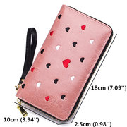 Women Genuine Leather Long Wallet 5 Card Slot Phone Bag Coin Purse