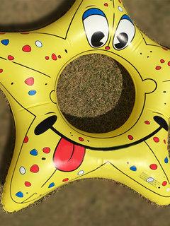 Мультяшная рыба Starfish Bee Пятиконечная звезда Надувное плавательное кольцо для детей