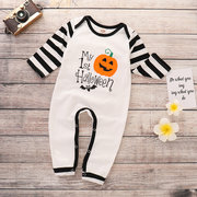 Halloween Pattern Baby Girls Boys Long Sleeve Jumpsuit For 6M-48M