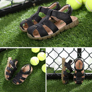 Soft Leather Flat Casual Beach Sandals For Boys