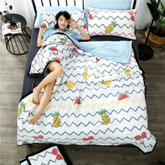 3/4Pcs INS Style Washed Cotton Summer Bedding Set Thin Quilt Soft Duvet Cover Pillowcases Queen King