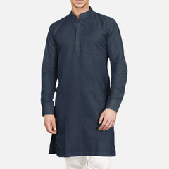 Mens Traditional Kurta Pajami Pakistani Bollywood Top Tunic Ethnic Dress Robe