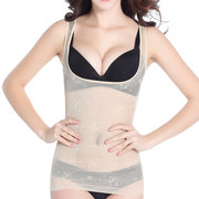 Plus Size Belly Control transpirable Mesh Floral Shapewear