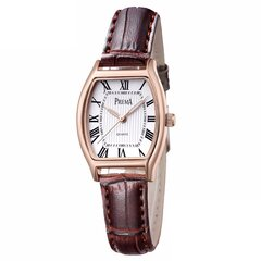 Retro Style Leather Watch Roman Number Dial Quartz Watch For Women
