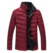 Plus Size 6XL Winter Outdoor Sport Thicken Warm Loose Stand Collar Padded Jacket for Men