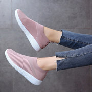 Big Size Women Running Sneakers Athletic Breathable Mesh Soft Vulcanized Socks Shoes
