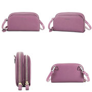 Women PU Leather Solid 8 Card Slot Card Bag Multi-slot Phone Bags Leisure Crossbody Bags