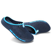 Men Hollow Breathable Soft Water Garden Shoes Casual Beach Sandals
