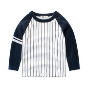 Striped Boys Long Sleeve T-Shirts Kids Tops For 2Y-11Y