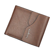 6 Card Slots PU Leather Wallet Vintage Hasp Coin Purse Card Holder For Women Men