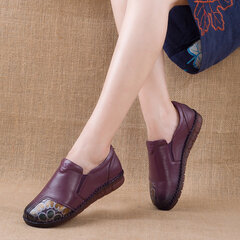 Leather Handmade Stitching Vintage Casual Shoes