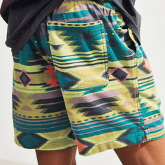 Estilo étnico para hombre Hawaii Playa Shorts Drawstring Back Pocket Printing Soft Shorts casuales