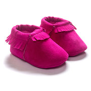 Soft First Walkers Baby Shoes Tassels Moccasins For Girls Boys For 0-24M