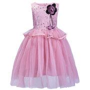 Цветочная пэчворк для девочек Pageant Свадебное Formal Платье Для 3Y-9Y