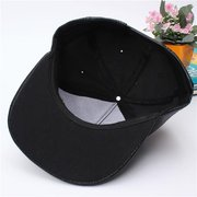 Men Women PU Leather Hip-Hop Snapback Hat Adjustable Baseball Cap