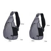 Men Outdoor Casual Fiber Crossbody Bag Chest Bag Shoulder Bag