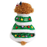 Green Christmas Tree Outwear Coat Pet Dog Puppy Sweater Clothes Costumes Apparel