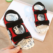 Boys Beach Soft Sole Hook Loop Comfy Sandals For Kids