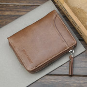 Artificial Leather Business 5 Card Slot Wallet Casual Multifunction Coin Bag