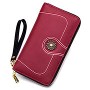 Stylish Genuine Leather Long Wallet Clutch Bags Card Holder Phone Bags For Women