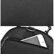 Damen Stilvolle PU-Leder-Schultertasche Umhängetasche Mini-Rucksack