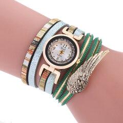 Bohemio colorido reloj de pulsera de múltiples capas para mujeres ala redonda Dial pulsera regalo de la muchacha