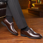 Men Classic Pure Color Slip On Comfy Business Casual Formal Shoes