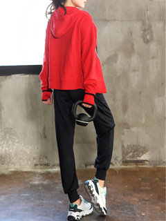 Sports Fluff Pants Two-piece Outfits For Women