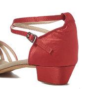Mulheres Confortável Salão de Baile Tango Latina Sapatos de Dança Fivela Sandálias de Salto Baixo