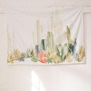 Tapeçarias de poliéster Tapeçarias Cactus Home Decor Creative Praia Toalha Cloth