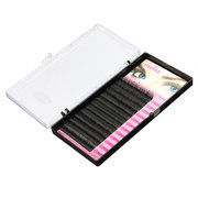8/10 / 12mm Natural Soft Thick Curl Falso Extension Eyelashes Maquiagem