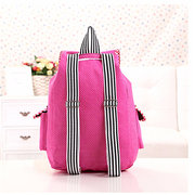Cute Rabbit Canvas Backpack Casual Shoulder Bag for Primary School Students