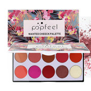 10-Color Face Blush Suit Non Blooming Nude Repairing High Gloss Blush Cream Face Makeup