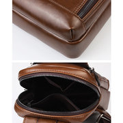 Vintage PU Leather Waterproof Crossbody Bag Chest Bag For Men