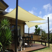 3.6x3.6x3.6M/5x5x5M Sun Shade Sail Anti-UV Outdoor Patio Lawn Car Pool Triangle Tent Canopy